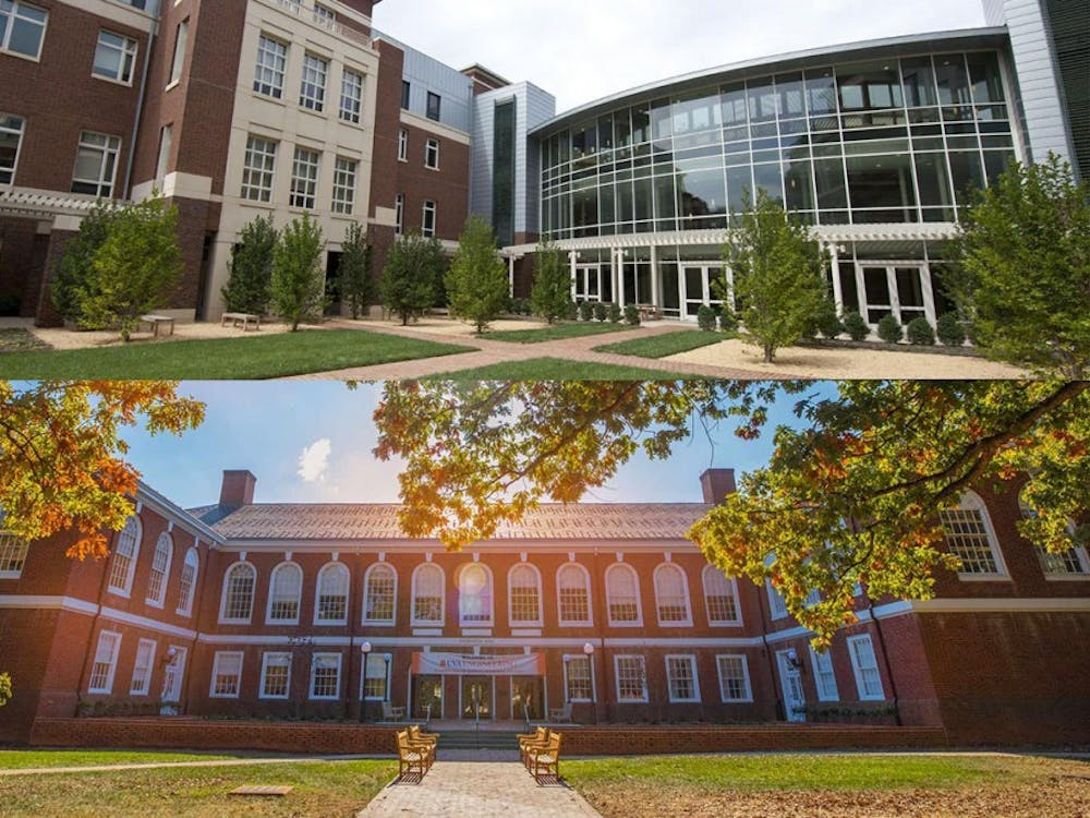 Both the College (above) and the Engineering school (below) consist of 70 percent Virginia residents and 30 percent out-of-state residents.