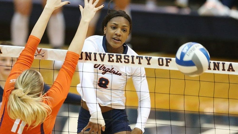 Sophomore middle blocker Chino Anukwuem had solid performances over the weekend despite Virginia's losses.