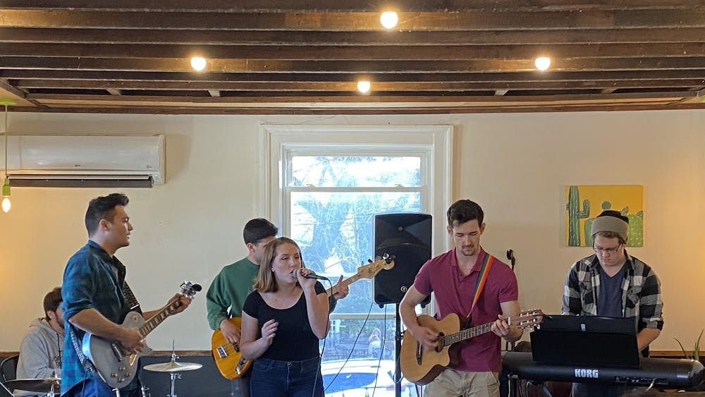 Silver Retriever was among the four acts featured in the third installment of UPC's Tiny Desk series, held Feb. 28 at Grit Coffee.