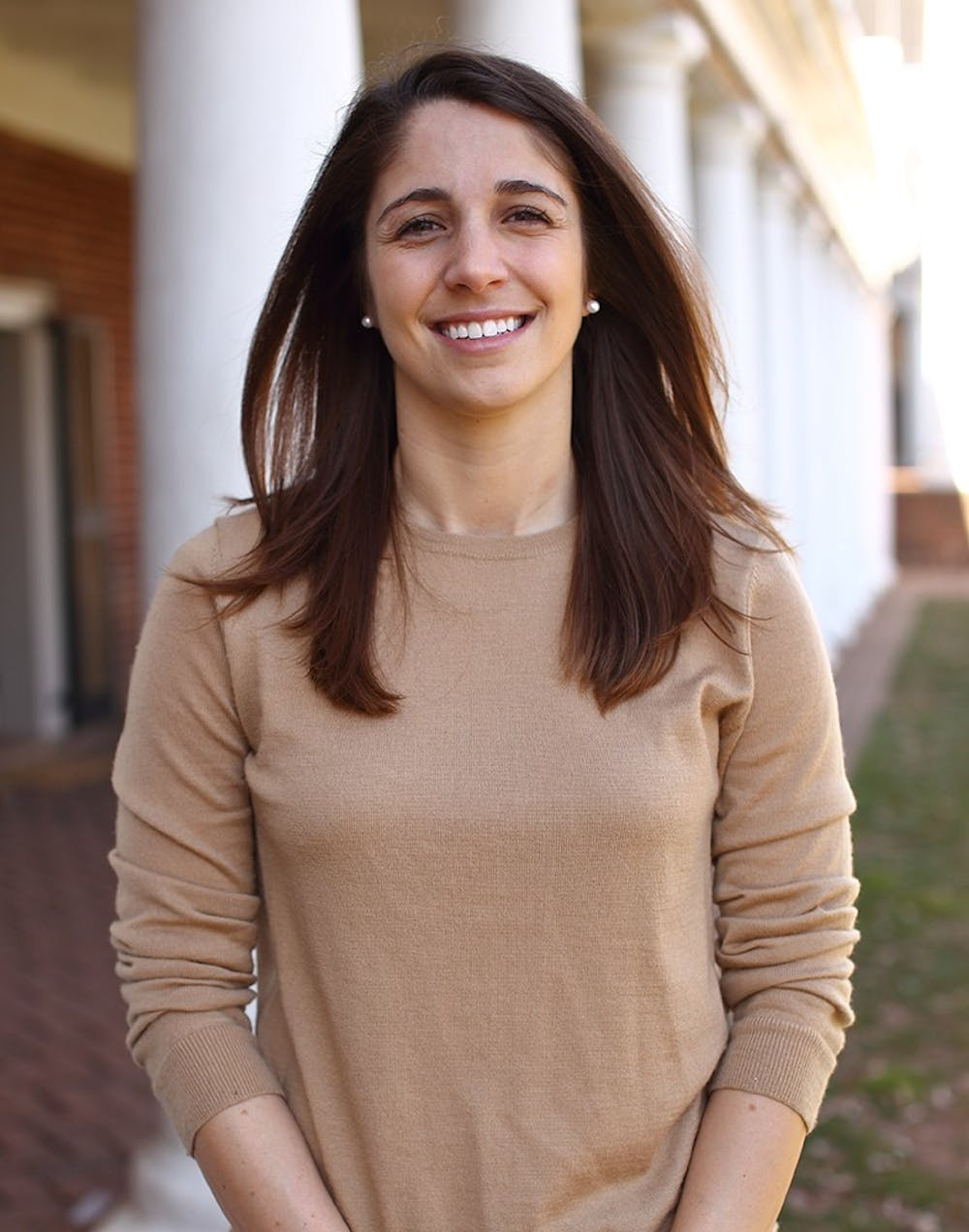 <p>BOV student member Phoebe Willis presented updates on the SIF and presidential search at Tuesday's Student Council meeting.</p>