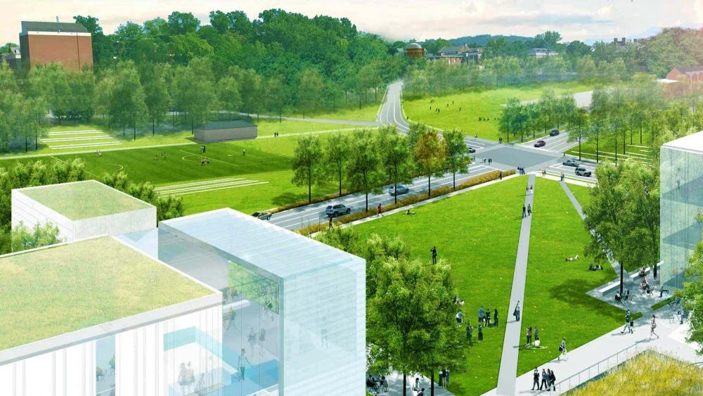 The Ivy Corridor redevelopment process will be centered around the inclusion of green spaces and pedestrian accessibility.