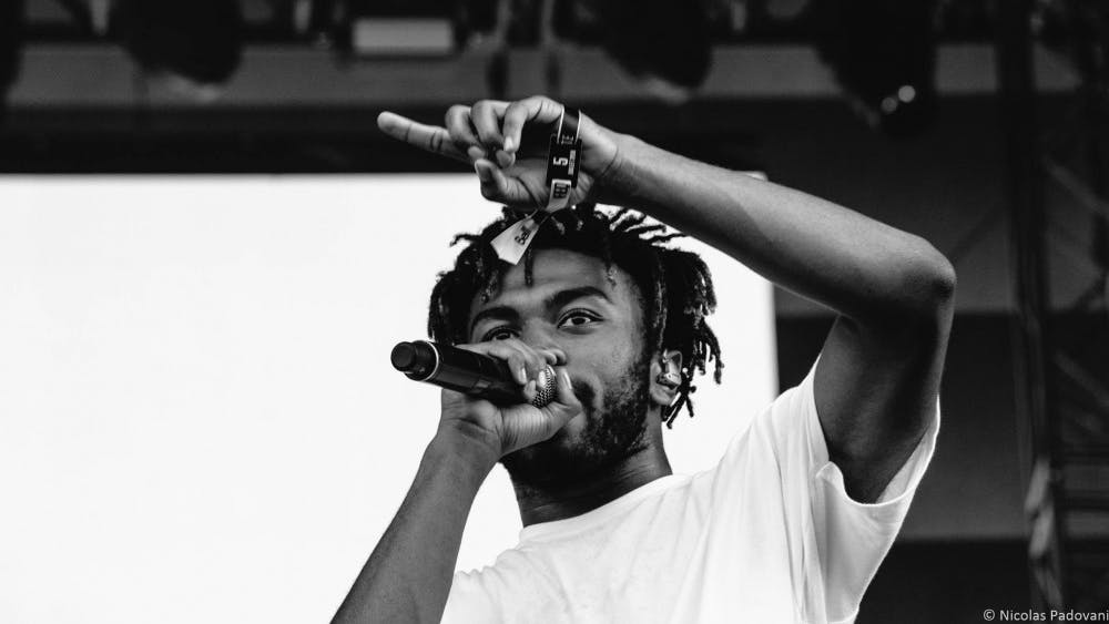 Kevin Abstract performs as part of Brockhampton in July 2018.