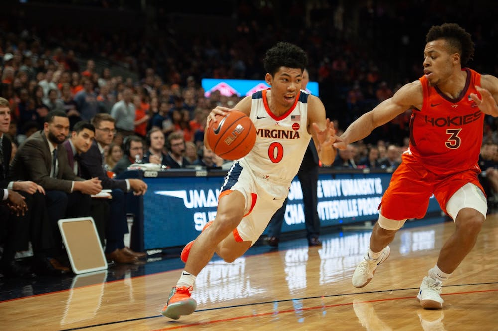 <p>Sophomore guard Kihei Clark was an adept distributor of the ball Tuesday night, tallying six assists.&nbsp;</p>
