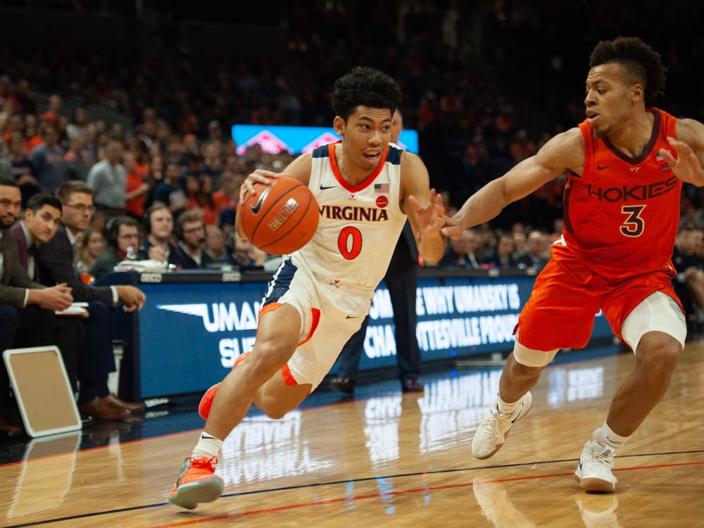 Sophomore guard Kihei Clark was an adept distributor of the ball Tuesday night, tallying six assists.