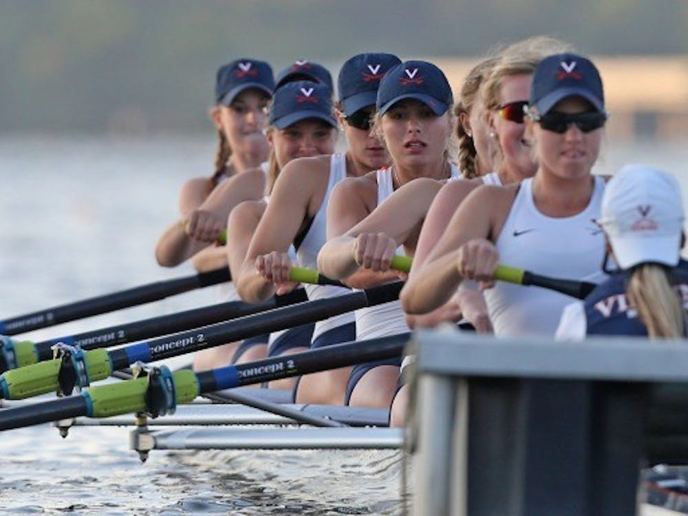 The Cavaliers' Varsity Four boat — featuring reigning NCAA champions senior Hannah Solis-Cohen and juniors Ellen Pate and Marijane Brennan — came in fourth place in the Championship Fours, while the Virginia Varsity Eight placed third in the Championship Eights.