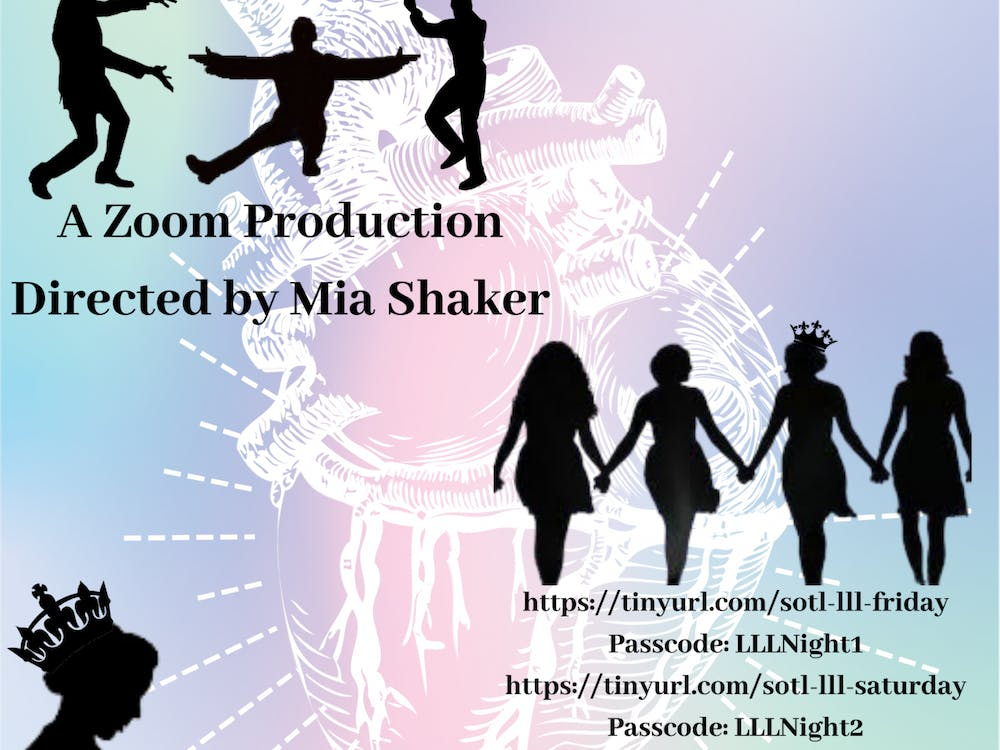 """Shakespeare on the Lawn's production of """"Love's Labour's Lost"""" will be presented virtually via Zoom April 16 and 17 at 7 p.m."""