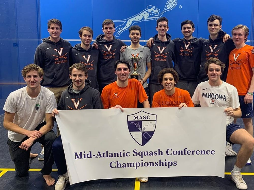 The men's team won the Mid-Atlantic Squash Championship for the second straight year.