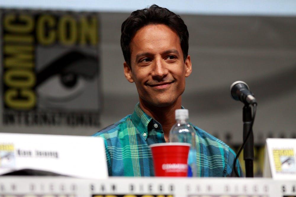 "<p>Danny Pudi of ""Community"" speaks at San Diego Comic Con in 2013.&nbsp;</p>"