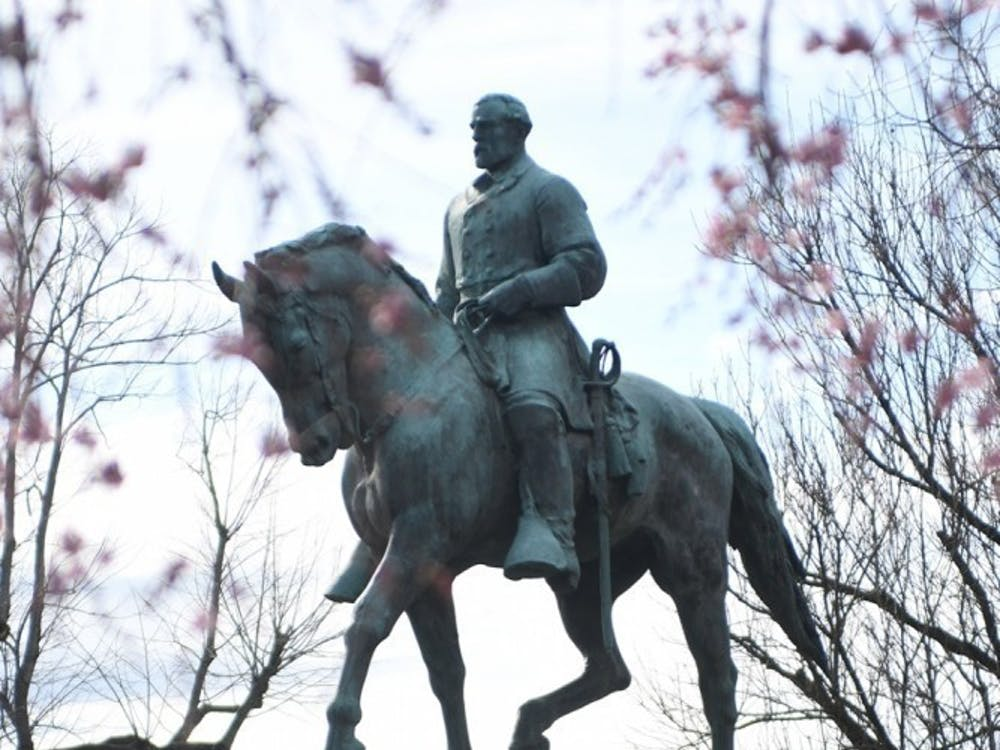 The Lee and Jackson statues were vandalized less than one month ago.