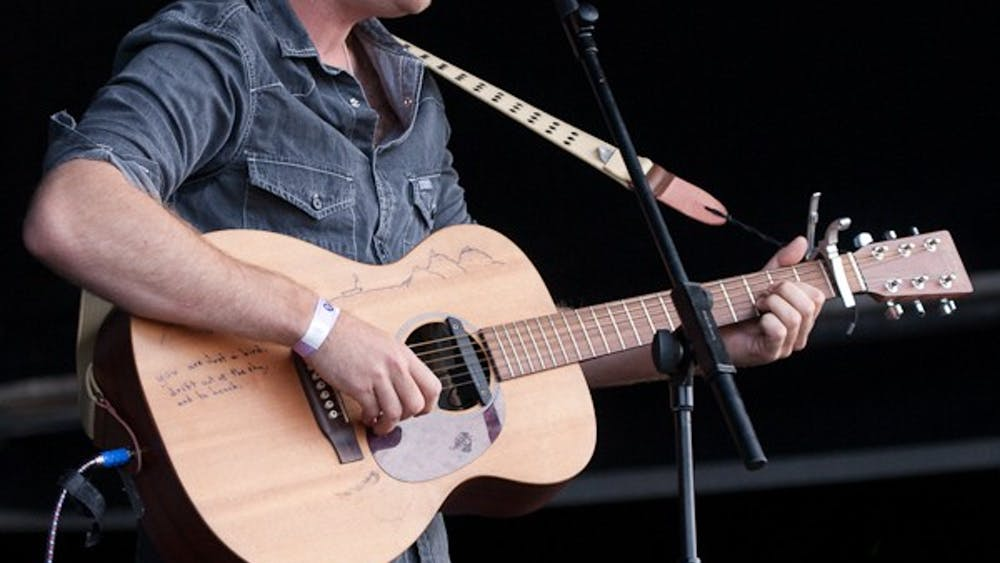 British folk artist Benjamin Francis Leftwich performs in the Channel Islands in 2011.