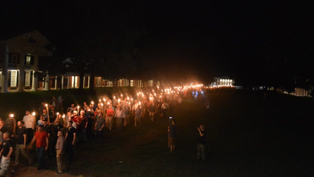 White nationalists held a torchlit march through Grounds on Aug. 11.