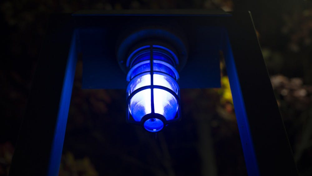 The University's blue light system, installed in the 1970s, is used less often today than it was in the past due to the rise of cell phones, however officers still respond to occasional emergency calls through the system.