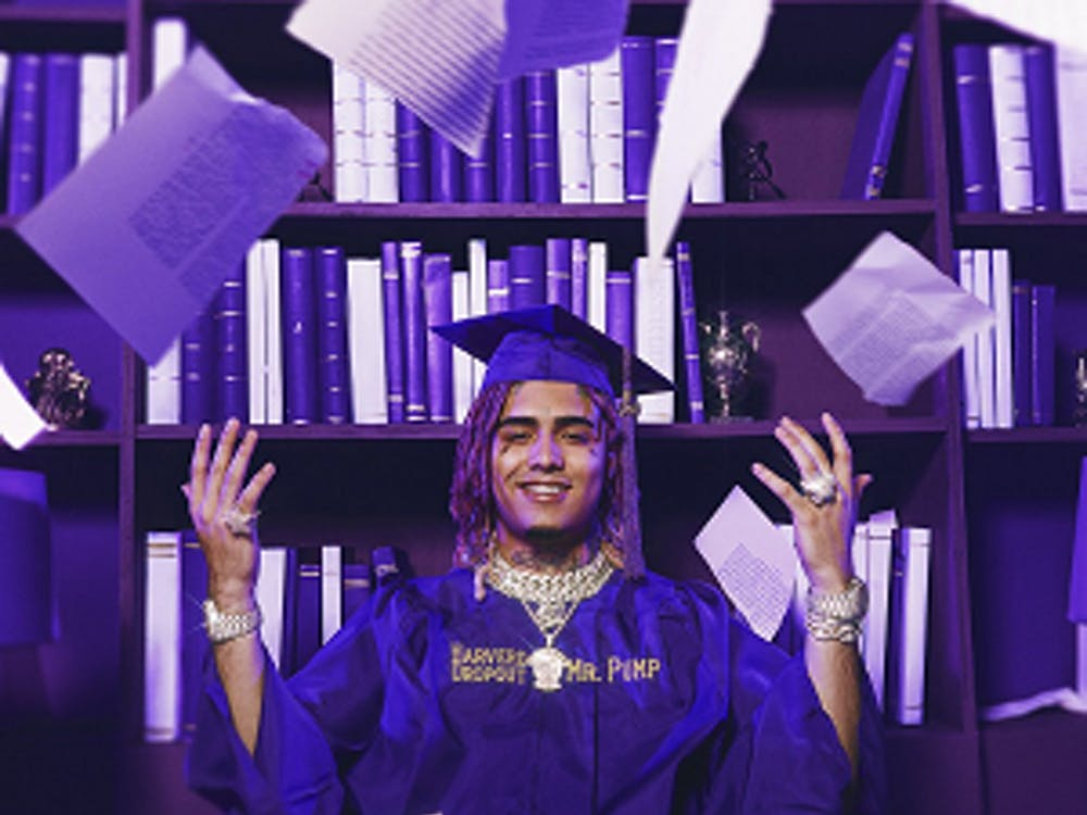 Lil Pump did not actually go to Harvard, but his playful nature is evident in the way he presents himself.