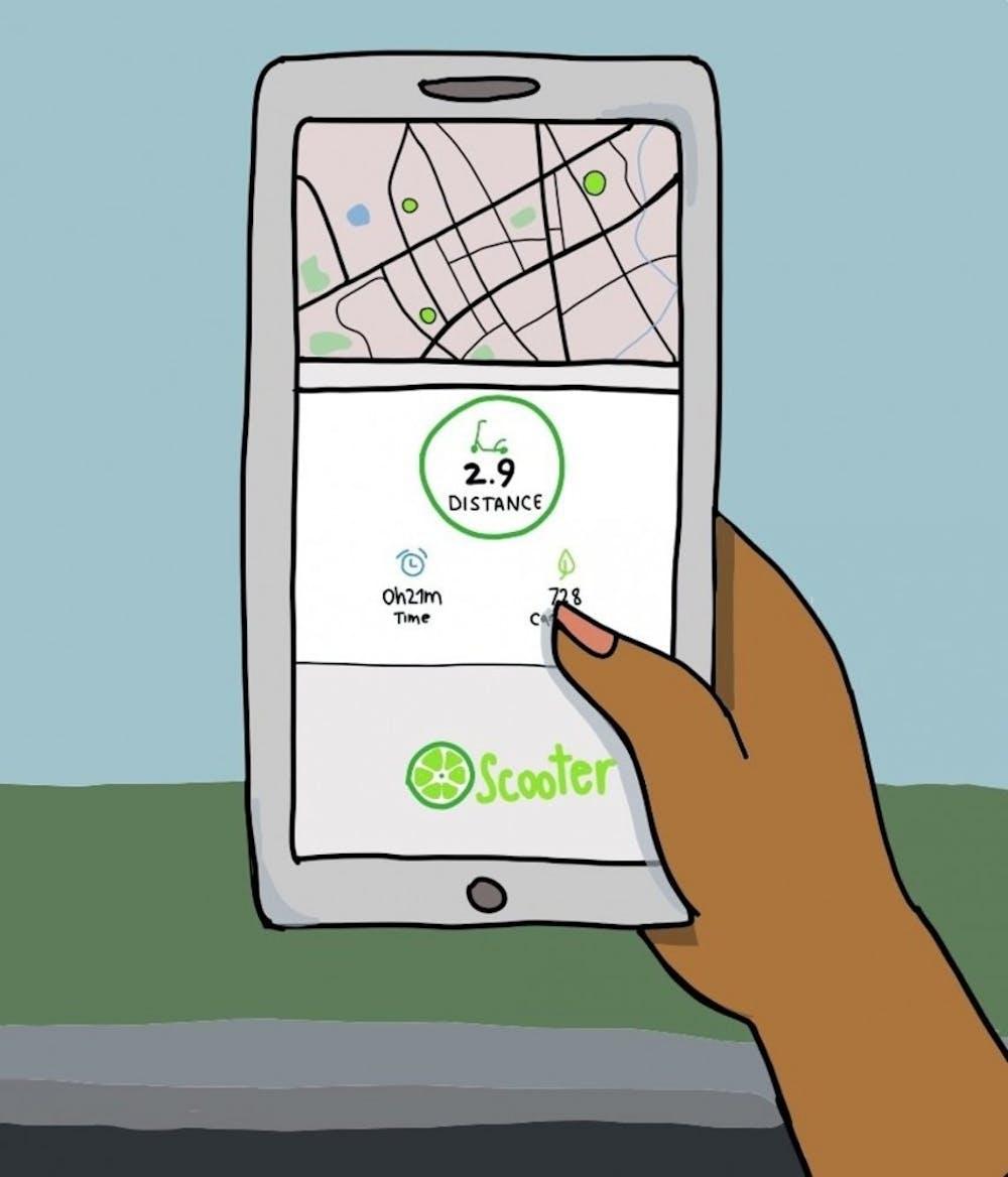 如果要使用Bird 或Lime (电动滑板车两大供应商) 的话, 首先要下载他们的软件。