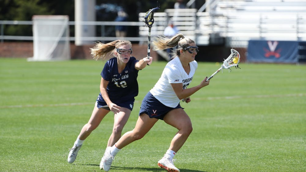 Senior attacker Taylor Regan had two goals for the Cavaliers, bringing her goal total to 19 for the season.