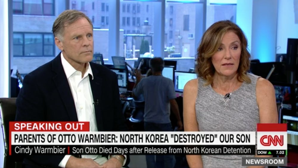 Fred and Cindy Warmbier appeared on CNN Tuesday.