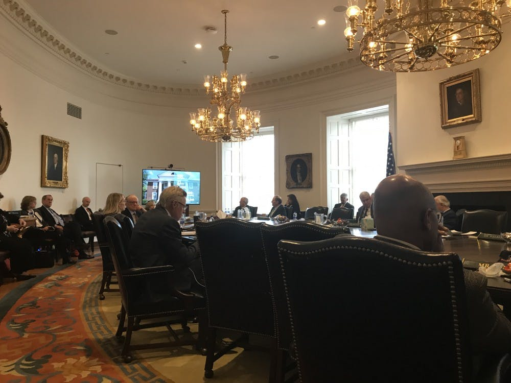 The Board of Visitors' Buildings and Grounds Committee met Thursday in the Board Room of the Rotunda.