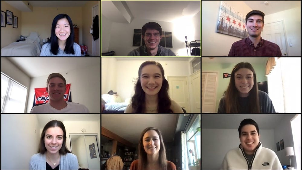 Rounding with Heart volunteers typically meet in-person for training at the beginning of each semester, but have been meeting on Zoom because of the pandemic.