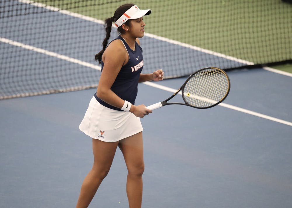 <p>Sophomore Natasha Subhash has continued to impress in her second year on the team. Last season, Subhash was named National Rookie of the Year by the Intercollegiate Tennis Association after going 26-6 in singles matches and&nbsp;15-5 against nationally ranked opponents.</p>