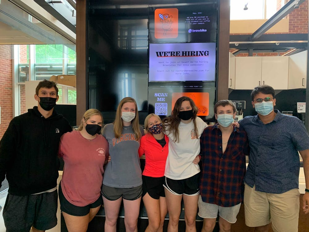 <p>Students at BrewBike coming together to enhance the UVA dining experience &nbsp;</p>