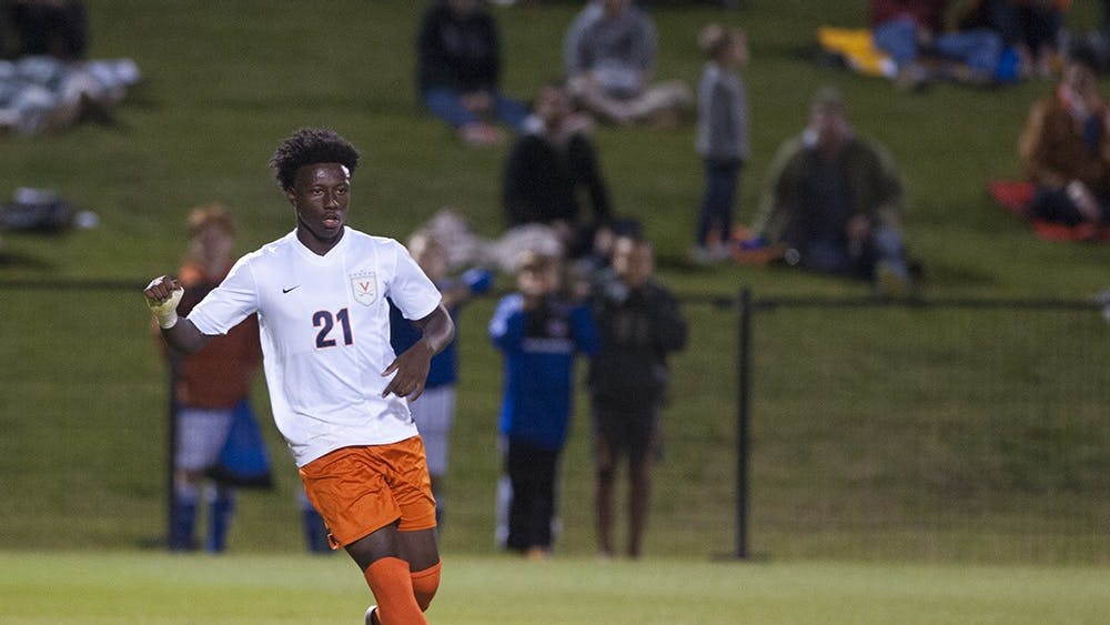 Freshman midfielder Derrick Etienne's 12th minute goal gave the Cavaliers a 1-0 over in-state rival Virginia Tech.