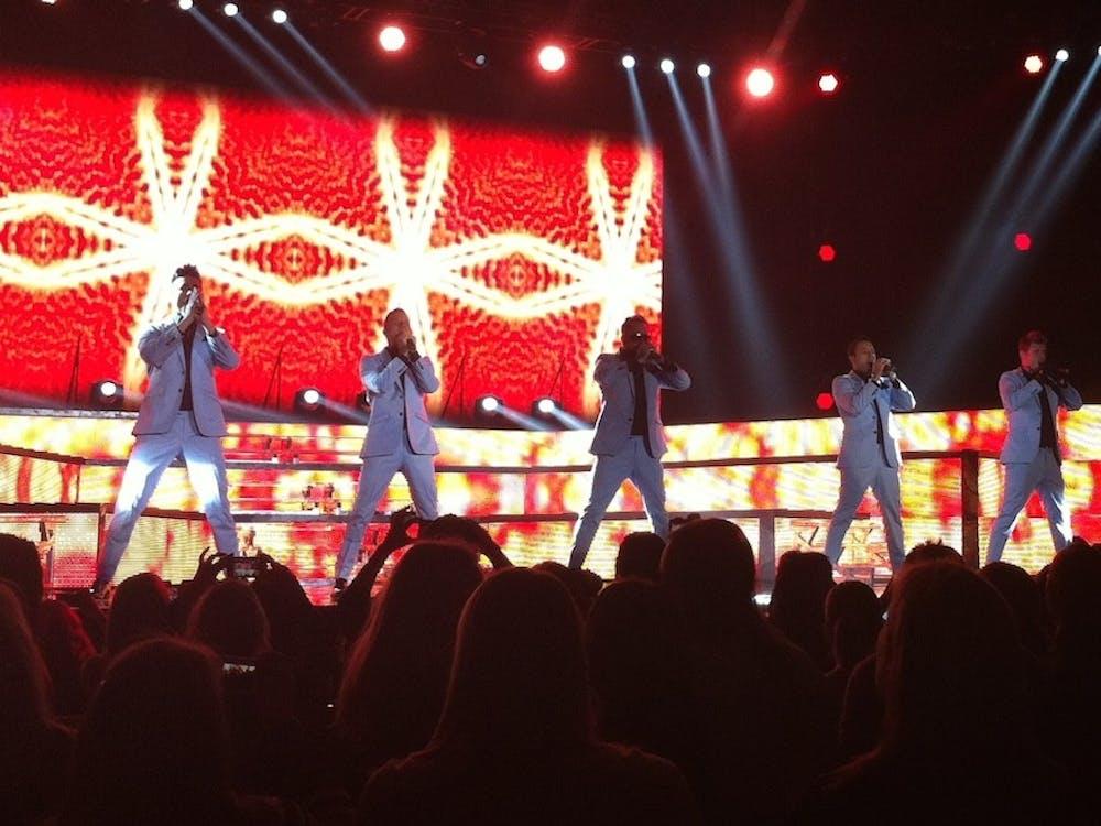 The Backstreet Boys perform in Stockholm, Sweden in 2014.