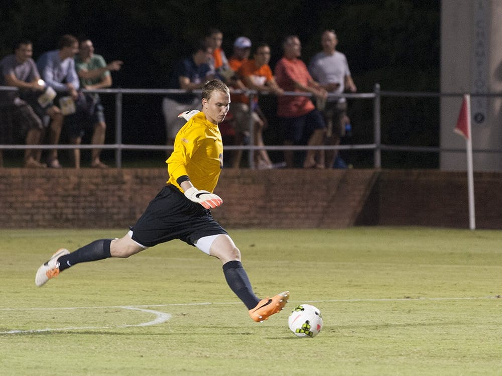 Sophomore goalkeeper Jeff Caldwell and the Virginia men's soccer team take on No. 17 Charlotte this Saturday at Klöckner Stadium. Caldwell is moving into the starting role formerly held by Calle Brown.