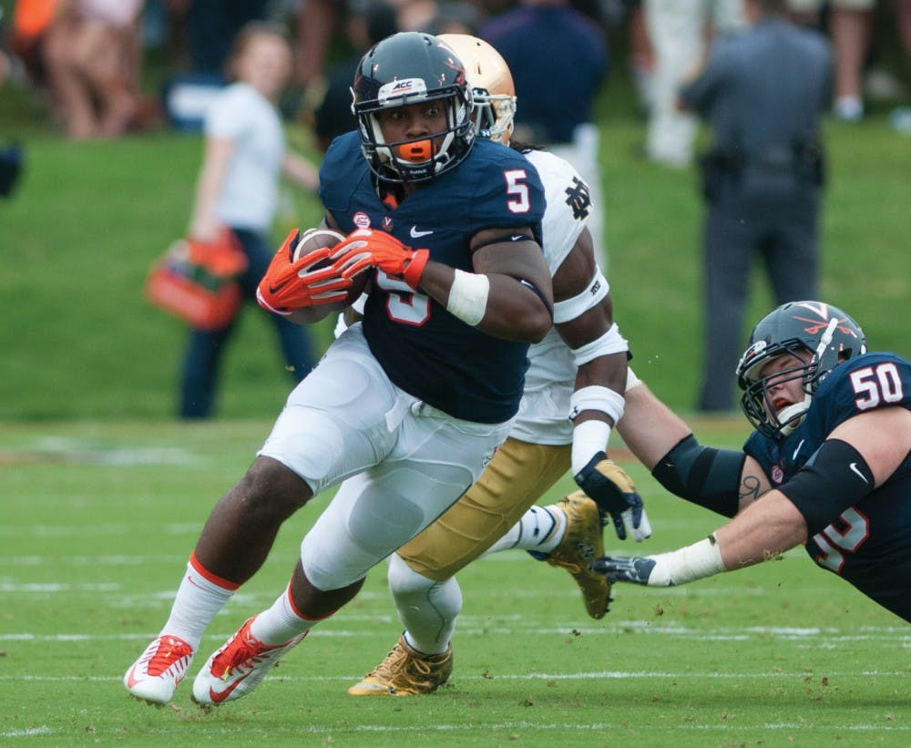 <p>Maryland transfer junior Albert Reid broke off a 71-yard carry in the first quarter last Saturday against Pittsburgh.</p>