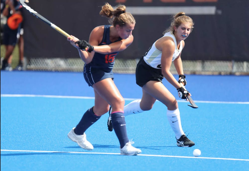 <p>Sophomore striker Laura Janssen hit the game-winning goal in the fourth quarter to lead Virginia to a 1-0 win.</p>