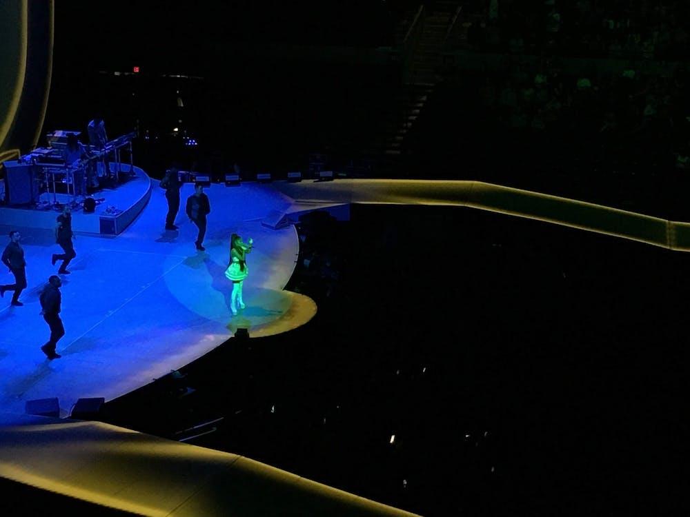 <p>Ariana Grande performed a slew of crowd-pleasing hits at JPJ Nov. 15 as part of her international Sweetener tour.&nbsp;</p>