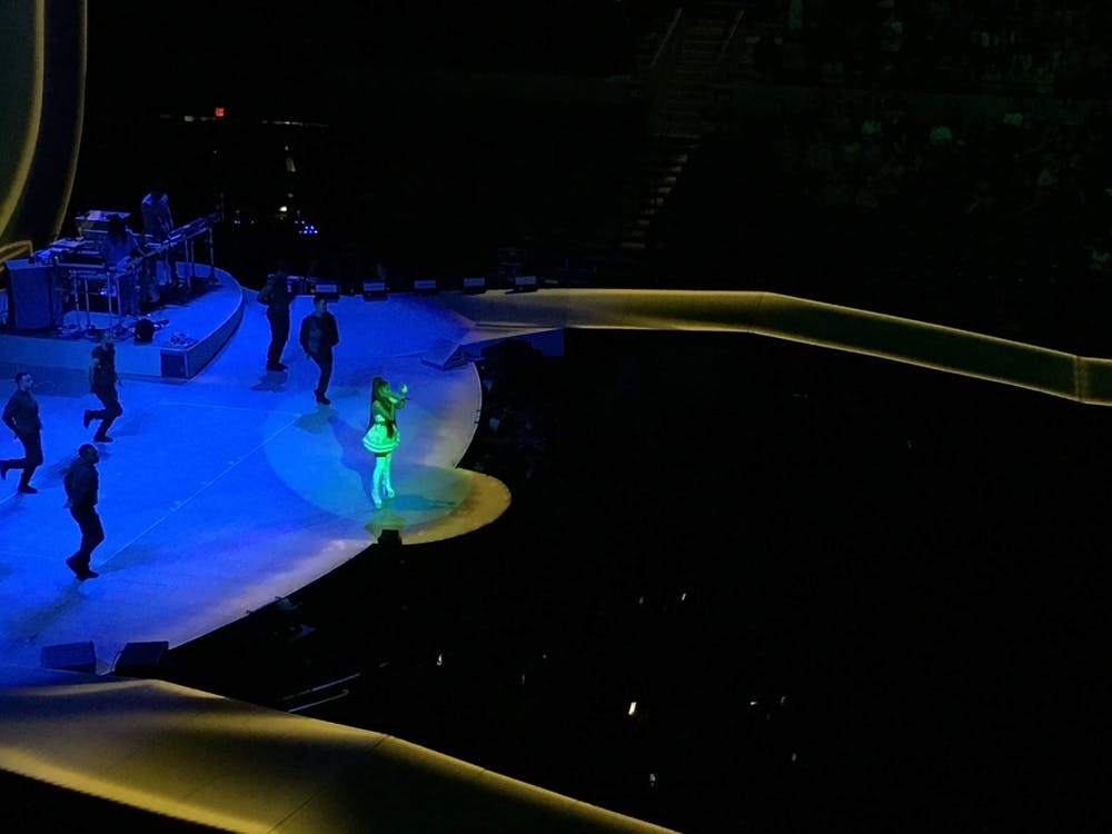 Ariana Grande performed a slew of crowd-pleasing hits at JPJ Nov. 15 as part of her international Sweetener tour.