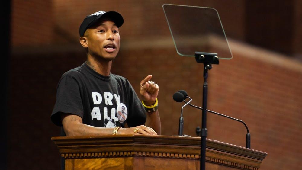Pharrell Williams — a Virginia Beach native and Grammy award-winning musician and producer, entrepreneur, philanthropist, activist and fashion designer — was this year's keynote speaker.