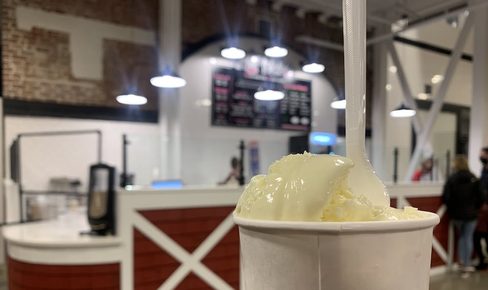 The texture of the cake batter ice cream was just as soft and creamy as I remembered and had me contemplating if I should order more and have ice cream for dinner.