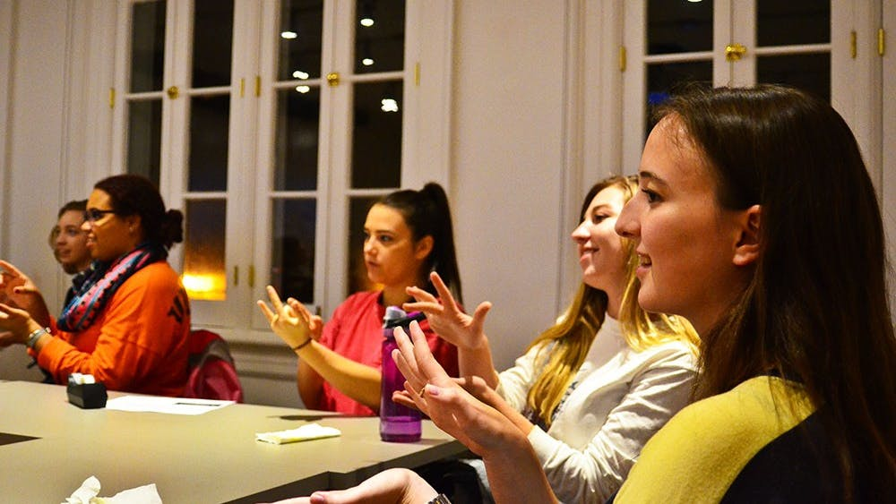 In addition to guiding students in sign language, the workshop taught students about different aspects of deaf culture.
