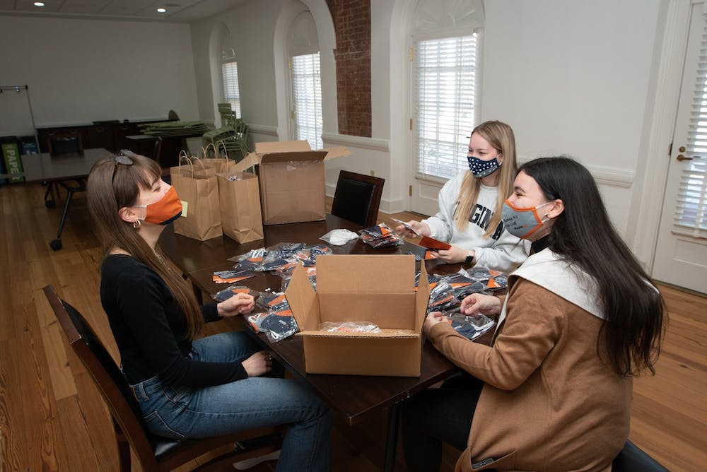 <p>These sustainably made, custom-designed masks were made in partnership with Nest, a non-profit aiming to build a handworker economy in hopes of increasing global workforce inclusivity, improving women's wellbeing and preserving global cultural traditions.&nbsp;</p>