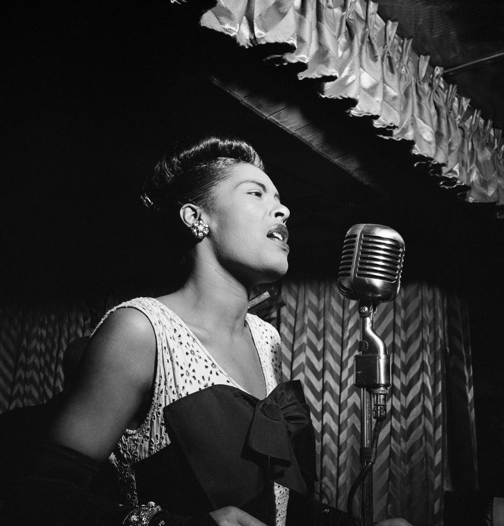"<p>Billie Holiday recorded her rendition of ""Strange Fruit"" with Commodore Records after her label, Columbia Records, denied her recording request.</p>"