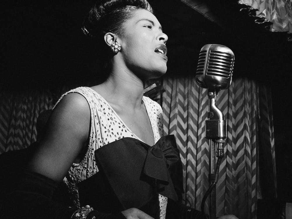 "Billie Holiday recorded her rendition of ""Strange Fruit"" with Commodore Records after her label, Columbia Records, denied her recording request."