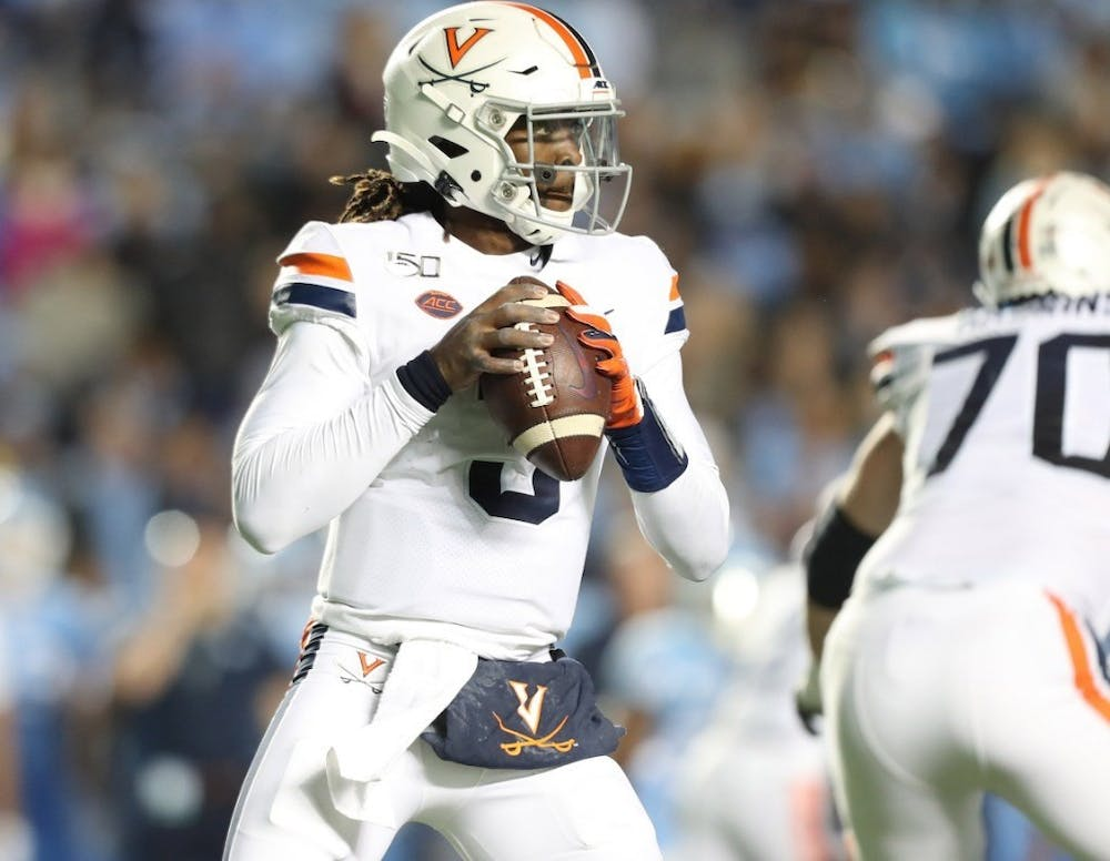 <p>With a career-high of 490 yards of total offense, senior quarterback Bryce Perkins passed current wide receiver coach Marques Hagans for No. 5 all-time at Virginia in career total offense.</p>