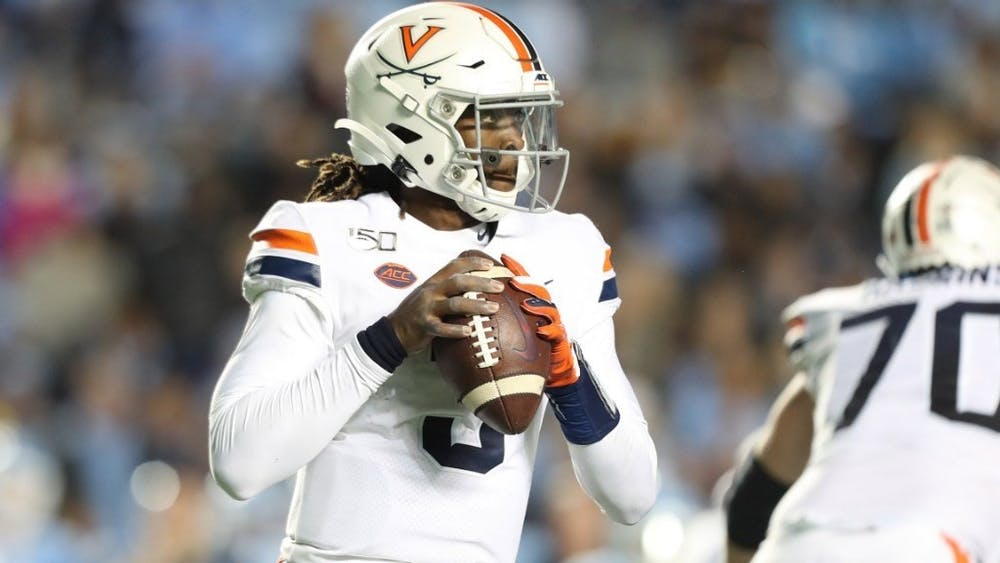 With a career-high of 490 yards of total offense, senior quarterback Bryce Perkins passed current wide receiver coach Marques Hagans for No. 5 all-time at Virginia in career total offense.