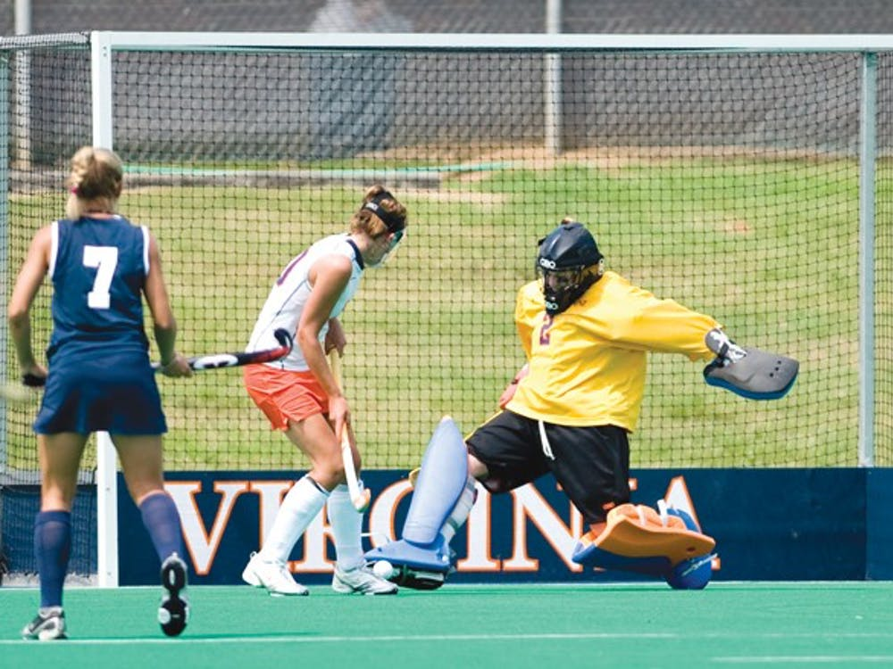Junior goalkeeper Kim Kastuk played half of the game against Miami (OH) and the entire game against Penn State. Photo by: Bennett Sorbo