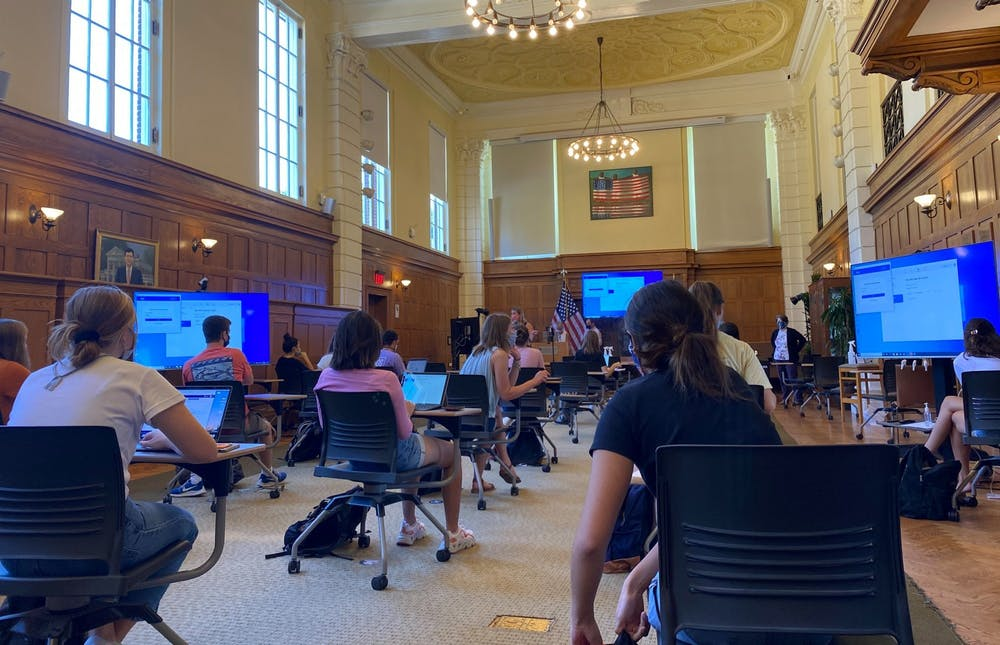 Foreign languages and the Batten School of Public Policy are two examples of departments creating committees of faculty tasked with evaluating all instruction possibilities this semester, considering department-specific constraints.