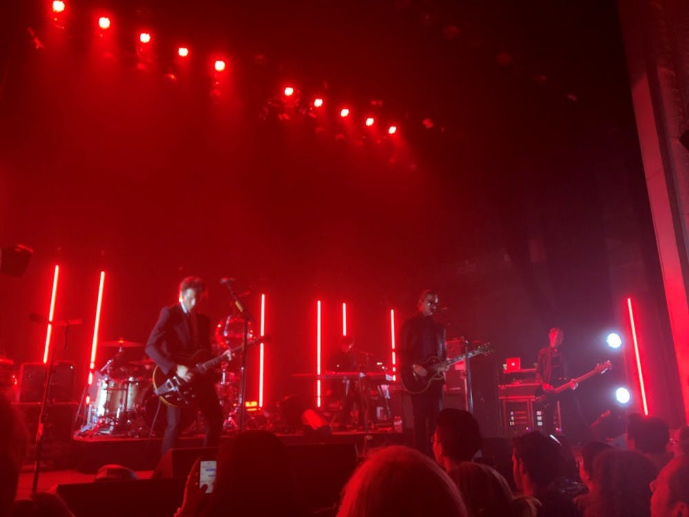 Interpol performing at the Jefferson Theater Sept. 4.