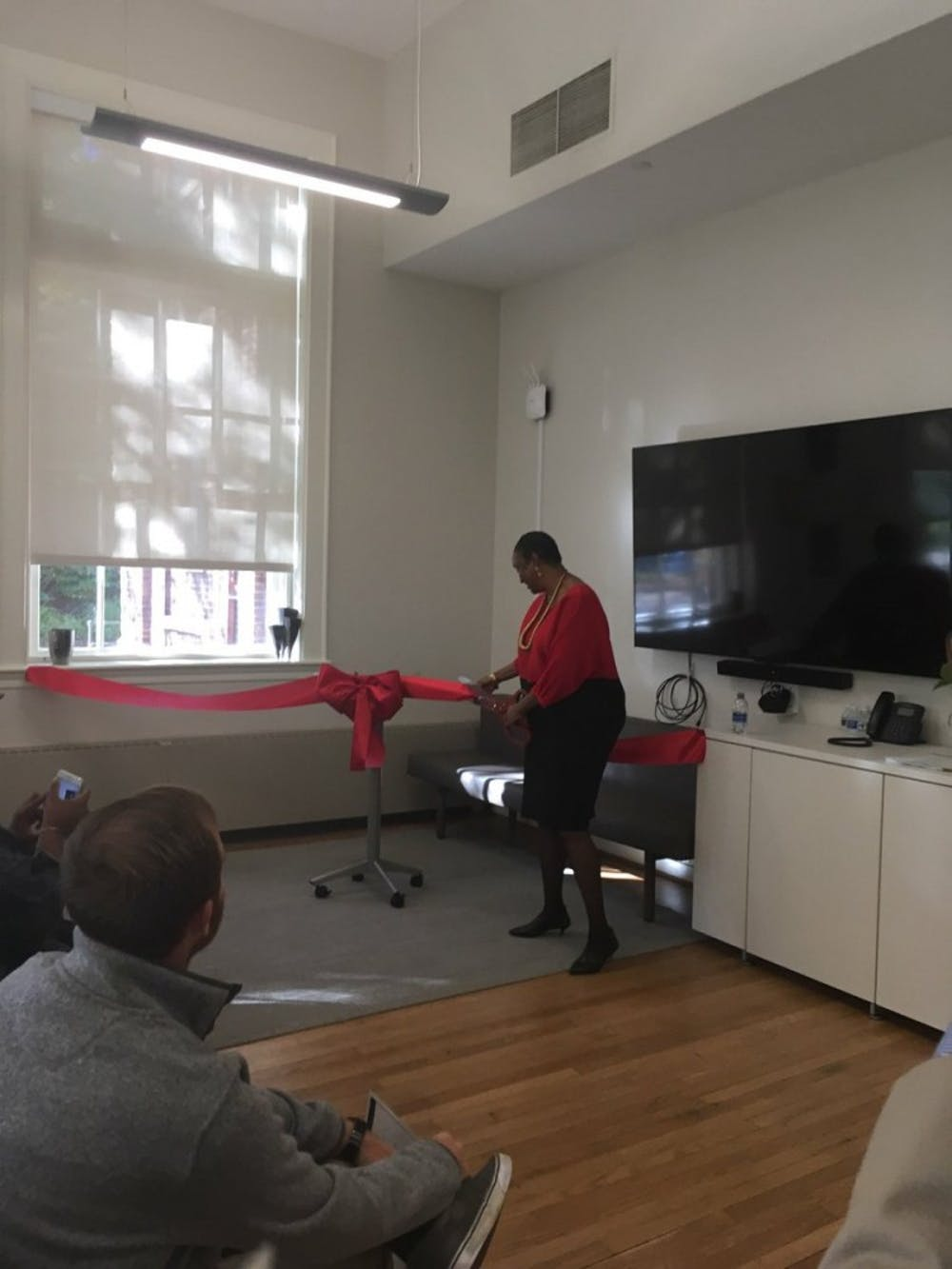 <p>A ribbon cutting Wednesday celebrated the beginning of the institute's new existence as a department.</p>