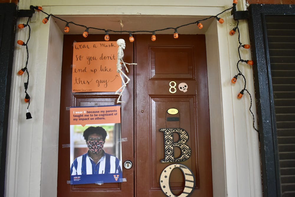 <p>Lawn residents have been able to use their doors as a platform for advocacy.</p>