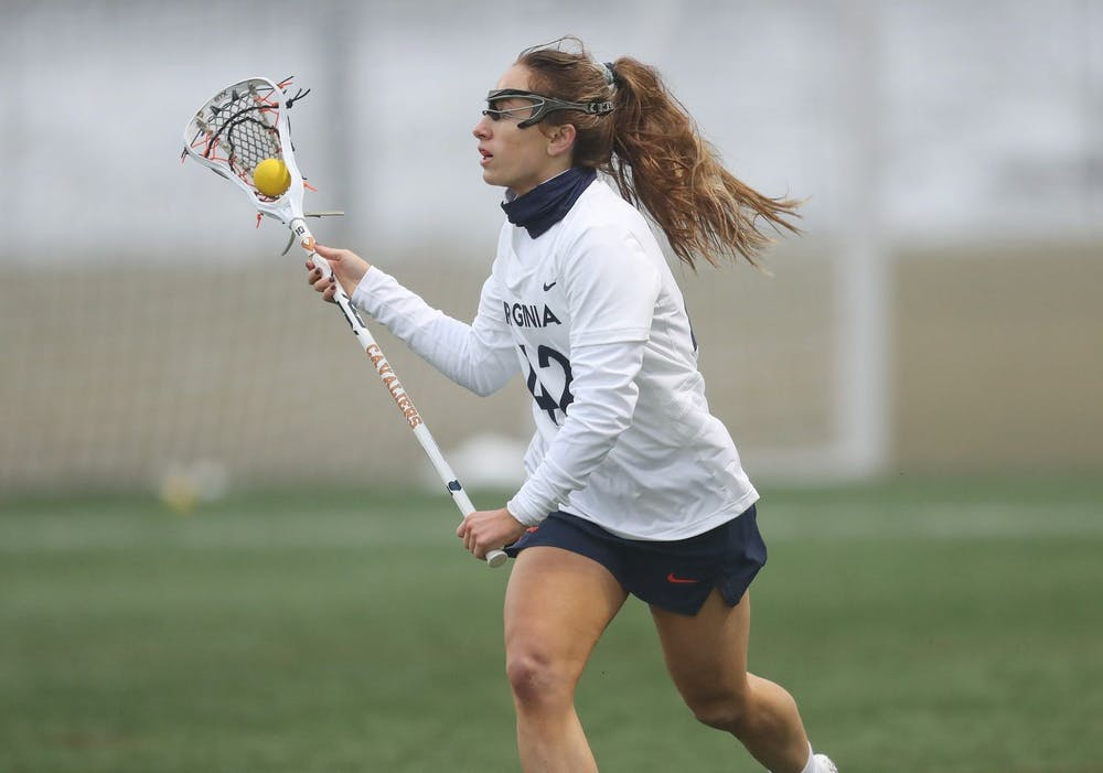 <p>Graduate student defender Meredith Chapman forced three turnovers and scooped up four ground balls in Sunday's win.&nbsp;</p>