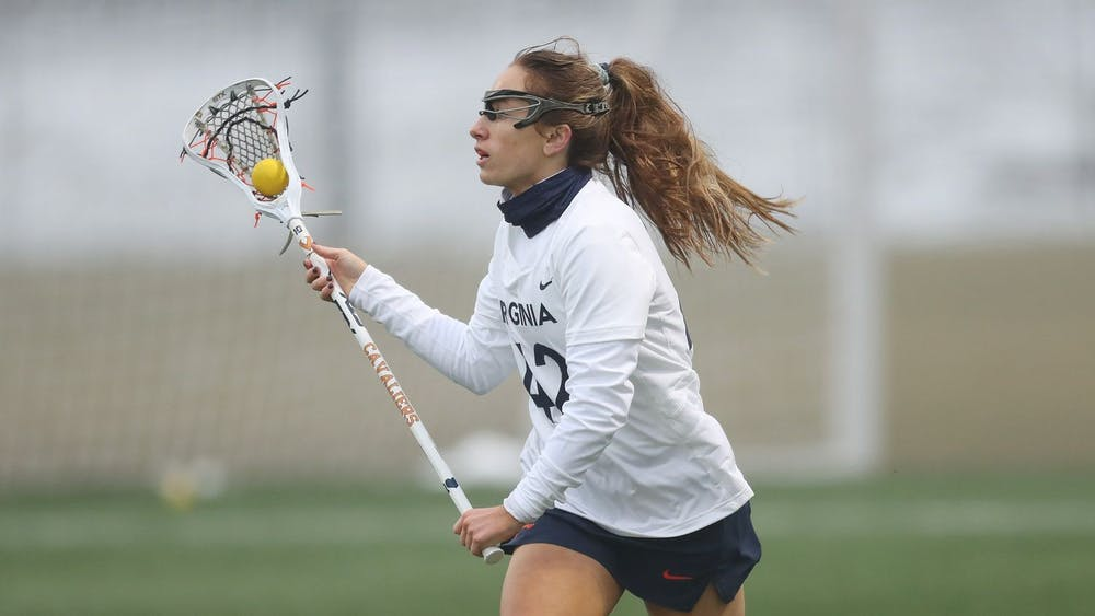Graduate student defender Meredith Chapman forced three turnovers and scooped up four ground balls in Sunday's win.