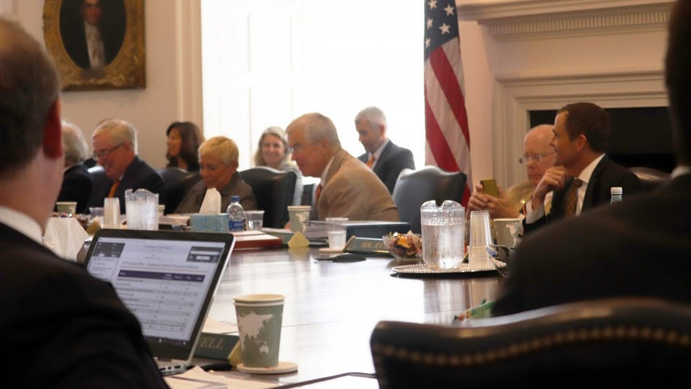 The Board of Visitors' Buildings and Grounds committee discussed design plans for new construction projects during its second meeting of the year.
