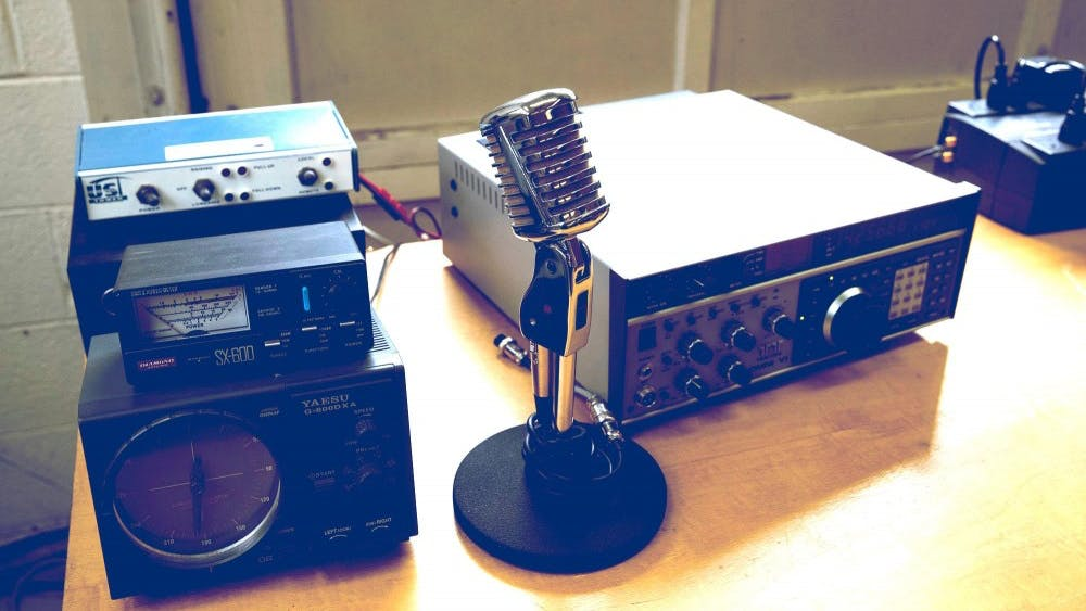 The Amateur Radio Club uses their equipment to extend their transmissions to space and emergency situations.