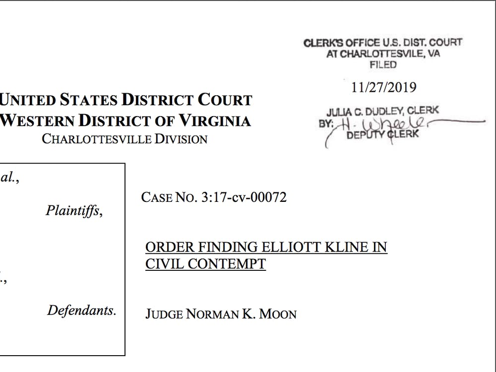 Judge Moon issued a written opinion Wednesday detailing Kline's failure to comply with court orders.