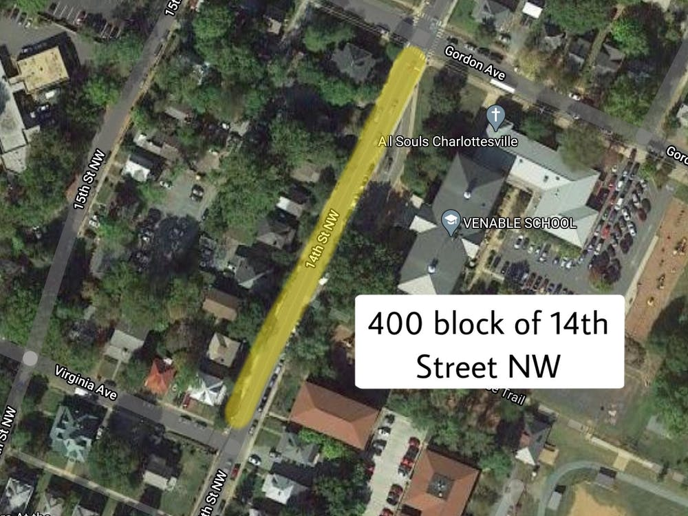 The break-in occurred in the 400 block of 14th Street, which consists of houses and an apartment building.